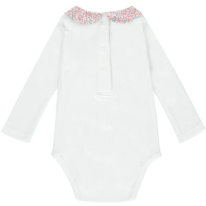 Babygrow with Liberty print collar