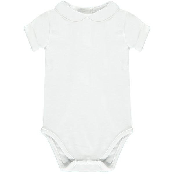 Baby grow with Peter Pan collar white